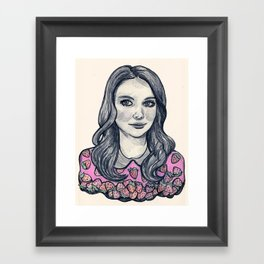 alison brie Framed Art Print