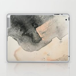 Peace and Quiet [2]: a pretty, minimal abstract piece in gray and peach by Alyssa Hamilton Art Laptop & iPad Skin