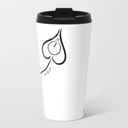 let the heart be your compass Travel Mug