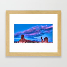 """Balanced Sunset"" Framed Art Print"