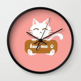 Hug Me Nyanko Wall Clock