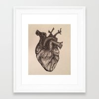 anatomical heart Framed Art Prints featuring Anatomical Heart by Redmonks