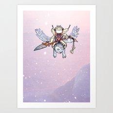 Snow Troll Art Print
