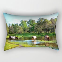 The watering hole Rectangular Pillow