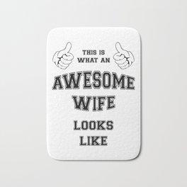 AWESOME WIFE Bath Mat