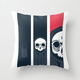 Skull Comics Throw Pillow
