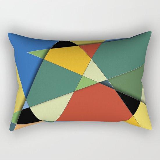 Abstract #323 Vincent's Palette Rectangular Pillow