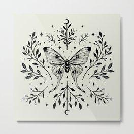 Mystical Luna Moth Metal Print