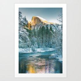 Half Dome In Winter Art Print