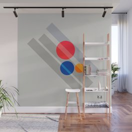 Abstract Suprematism Equilibrium Art Red Blue Yellow Wall Mural