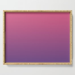Bright Pink Ultra Violet Gradient | Pantone Color of the year 2018 Serving Tray