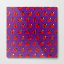 Ladybug Pattern_F Metal Print
