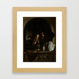 "Gerard Dou ""The Doctor"" Framed Art Print"