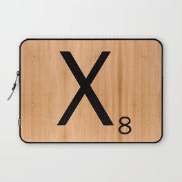 Scrabble Letter Tile - X Laptop Sleeve