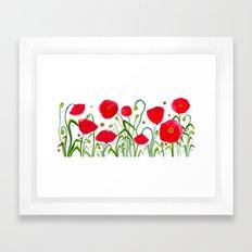 Flower#1 - Red Poppy Framed Art Print