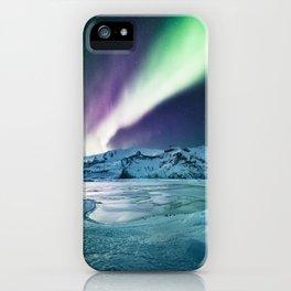 aurora in iceland iPhone Case