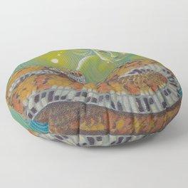 Serpent Goddess, Fantasy Snake Art Floor Pillow