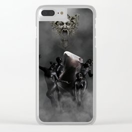 Laughing at my disaster Clear iPhone Case