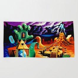 The Practical Deception by Vincent Monaco Beach Towel