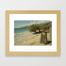 Mythos Beach Framed Art Print