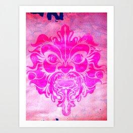 Pink Green Man Art Print