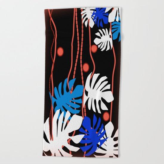 Jungle Night Fever Beach Towel