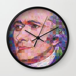 Portrait Of Alexander Hamilton Wall Clock