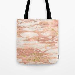 Sorano rose gold marble Tote Bag