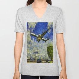 Airliner Van Gogh Unisex V-Neck