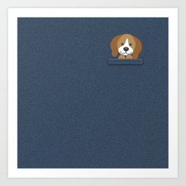 Beagle in a Pocket Art Print