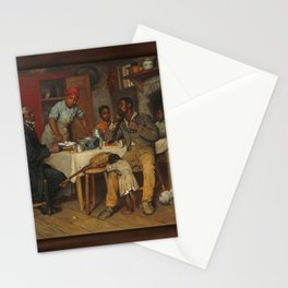 A Pastoral Visit, by Richard Norris Brooke, 1881 . An African American family Stationery Cards