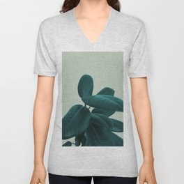 Ficus Elastica #8 #GreenLily #decor #art #society6 Unisex V-Neck