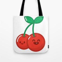 HyperKawaii happy cherry Tote Bag