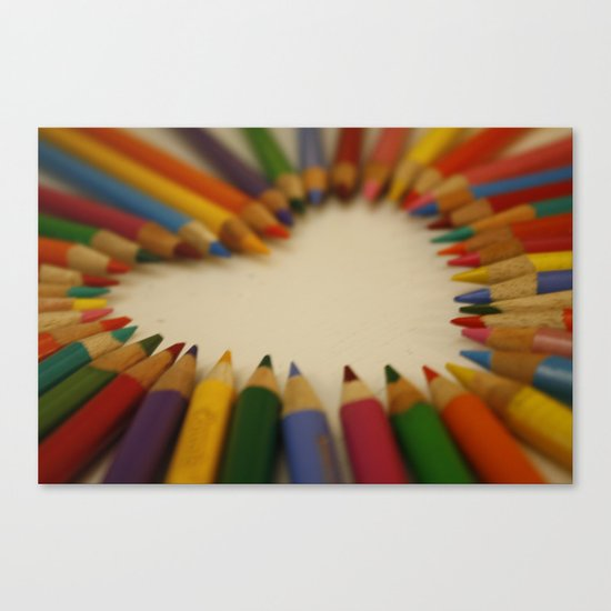 you color my world  Canvas Print