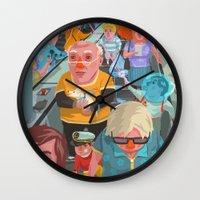 budapest Wall Clocks featuring metro Budapest by Zsolt Vidak
