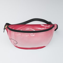 Dark Forest at Dawn in Ruby Fanny Pack