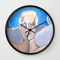 roman Wall Clocks featuring Roman by Artist Fran Doll