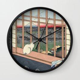 Bobtail Cat Wall Clock