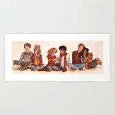 The Golden and the Silver Trio Art Print