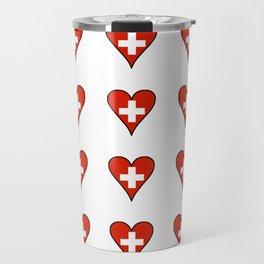flag Switzerland 3-,Swiss,Schweizer, Suisse,Helvetic,zurich,geneva,bern,godard,heidi Travel Mug