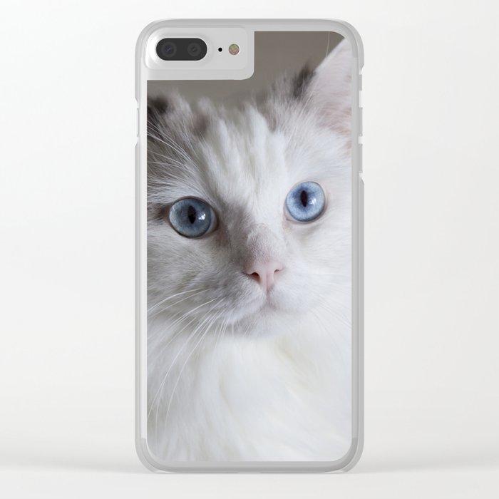 Ragdoll Cat Blue Eyes Clear iPhone Case