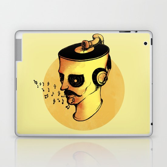 Record Player - ANALOG zine Laptop & iPad Skin