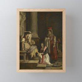 David Wilkie (1785-1841), A Roman Princess Washing the Feet of Pilgrims Framed Mini Art Print