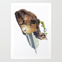 climbing Art Prints featuring Climbing by Lerson