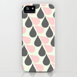 Grey and Pink Tears iPhone Case