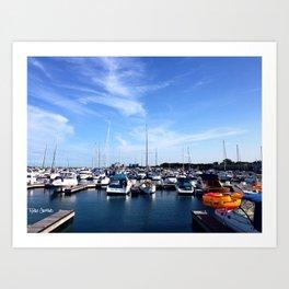 At the Boatyard Art Print
