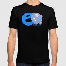 e for elephant MEDIUM Black Mens Fitted Tee
