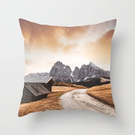 seiser alm in south tyrol Throw Pillow