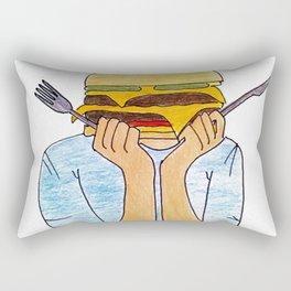 Food is my favorite Rectangular Pillow