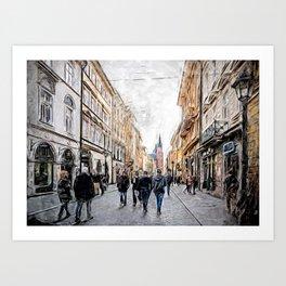 Krakow Florianska street #cracow #krakow Art Print